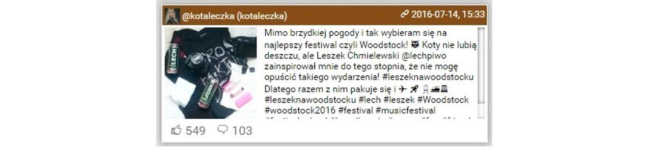Woodstock na Instagramie_najbardziej komentowane posty_kotaleczka_14-16.07.2016_NapoleonCat