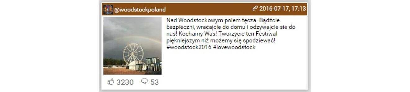 Woodstock na Instagramie_najbardziej komentowane_woodstockpoland2_14-16.07.2016_dane NapoleonCat