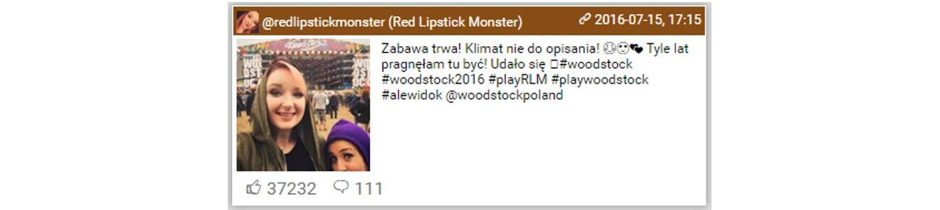 Woodstock na Instagramie_top10 najbardziej lubianych postow2_14-16.07.2016_NapoleonCat