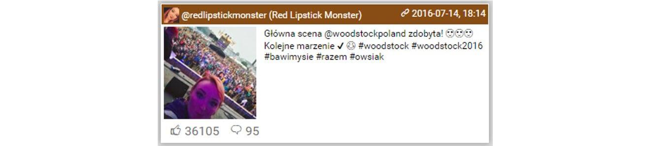 Woodstock na Instagramie_top10 najbardziej lubianych postow3_14-16.07.2016_NapoleonCat