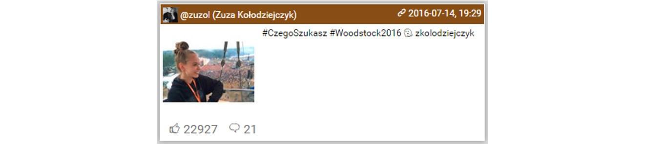 Woodstock na Instagramie_top10 najbardziej lubianych postow5_14-16.07.2016_NapoleonCat