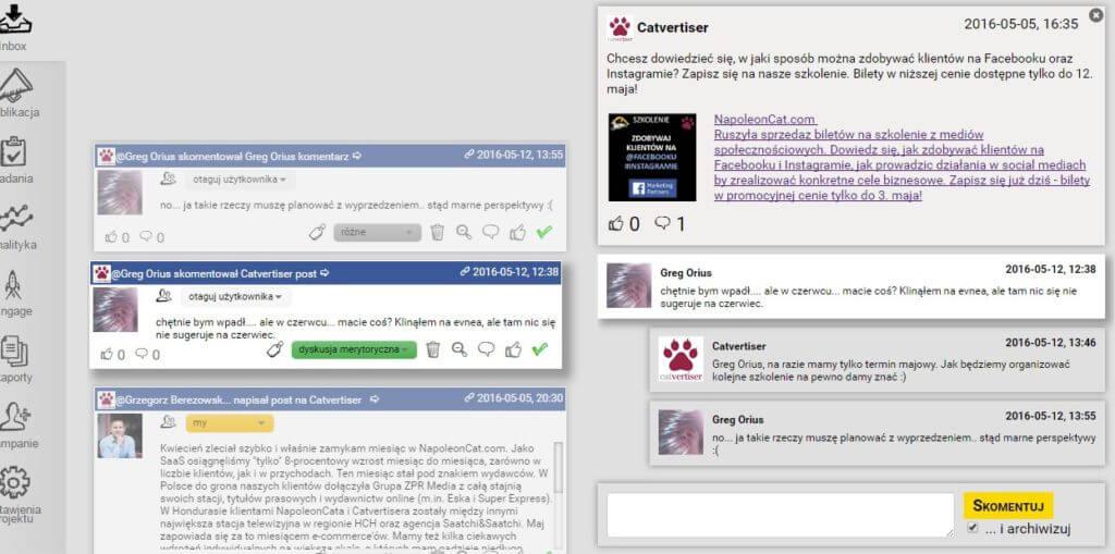 zarzadzanie komunikacja w mediach spolecznosciowych_inbox_NapoleonCat
