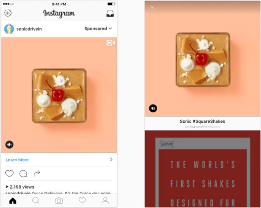 video ads on Instagram
