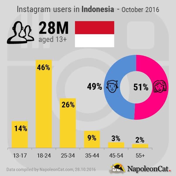 Instagram users demographics in Indonesia_Instagram analytics in NapoleonCat.com