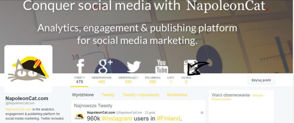 Chwile na Twitterze_Screen Twitter NapoleonCat