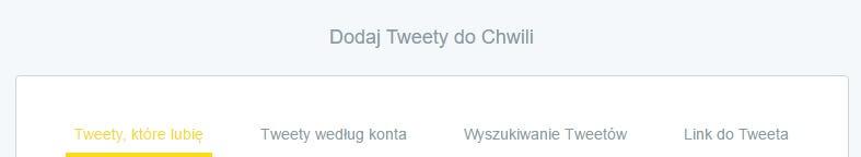 Dodaj tweety do Chwili_NapoleonCat na Twitterze