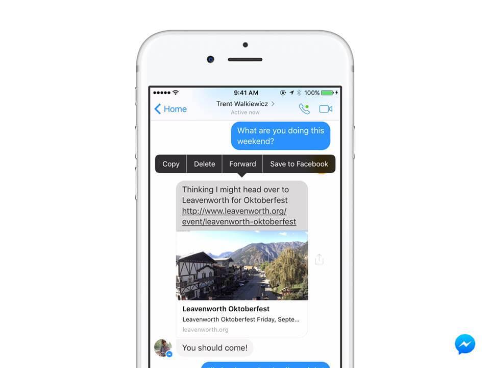 Facebook Messenger_zapisywanie linkow
