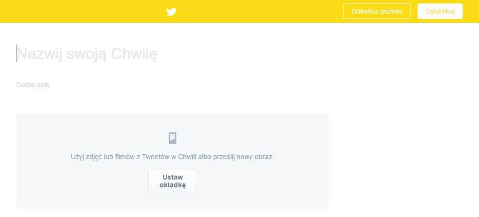 Tworzenie Chwil na Twitterze_uzyj zdjec lub filmow z tweetow_NapoleonCat na Twitterze