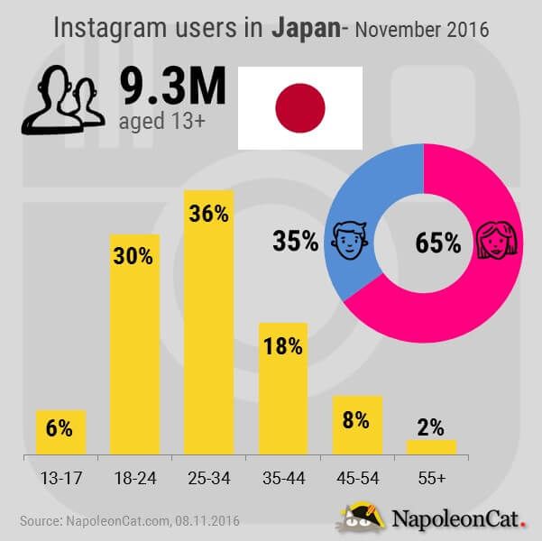 Instagram users in Japan_Instagram user demographics in Japan_Instagram analytics in NapoleonCat