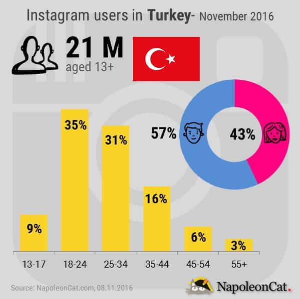 Instagram users in Turkey_Instagram user demographics in Turkey_Instagram analytics in NapoleonCat_NapoleonCat.com
