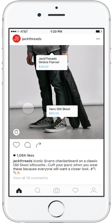 szczegoly produktow na zdjeciach na Instagramie_nowe rozwiazania dla e-commerce na Instagramie_zmiany w social media_NapoleonCat