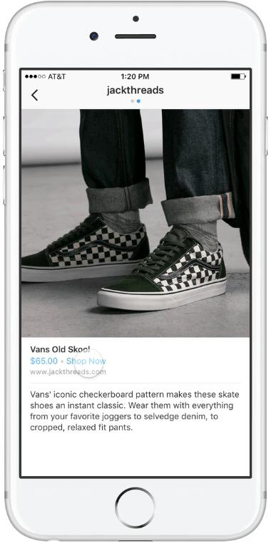 szczegolowy opis produktu na Instagramie_nowe rozwiazania dla e-commerce na Instagramie_zmiany w social media_NapoleonCat