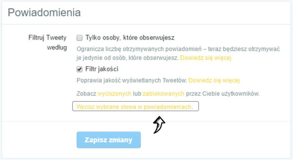 wycisz_wybrane_slowa_w_powiadomieniach_na Twitterze_mute_in_Twitter