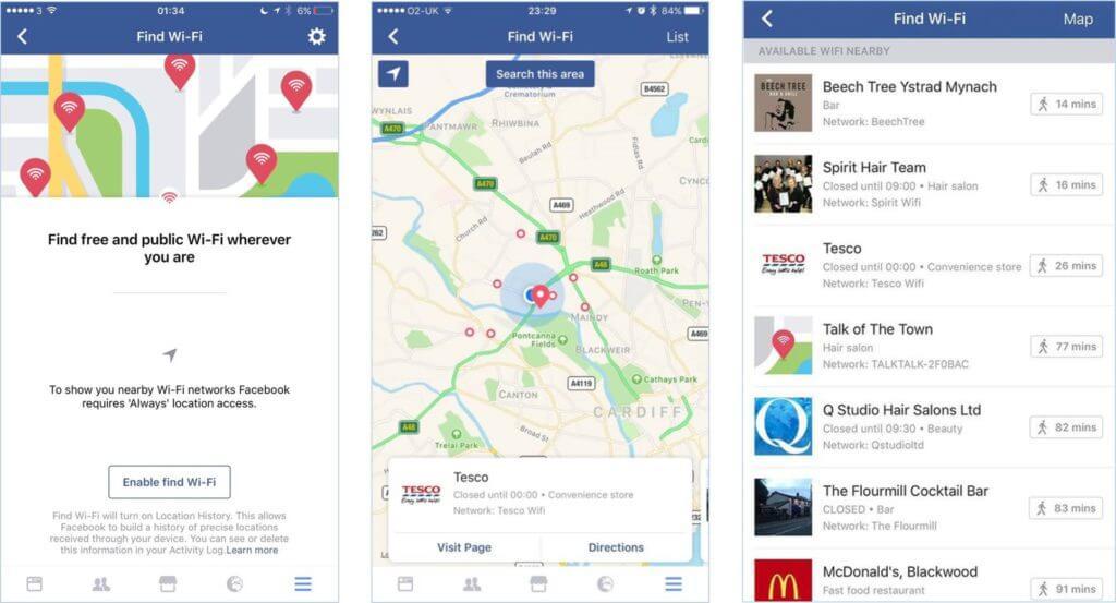 wyszukiwanie dostepnych sieci Wi-Fi na Facebooku_socialmediaupdate na NapoleonCat