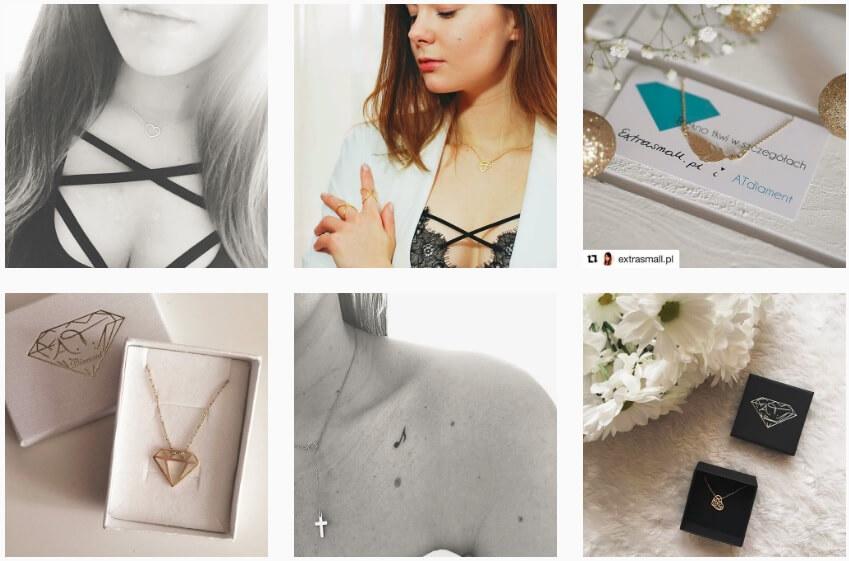 ATdiament na Instagramie_bizuteria na Instagramie_ranking NapoleonCat
