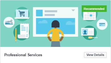 nowe szablony stron biznesowych na Facebooku_professional services_zmiany w social media_nowosci w mediach spolecznosciowych_NapoleonCat blog