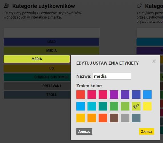 definiowanie-etykiety-w-NapoleonCat_kategoryzacja-uzytkownikow