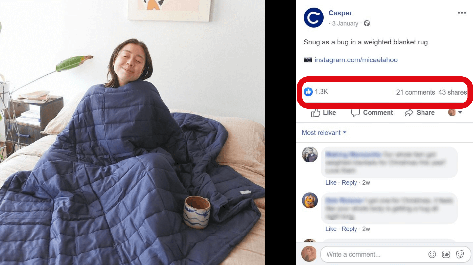 User generated content on Facebook