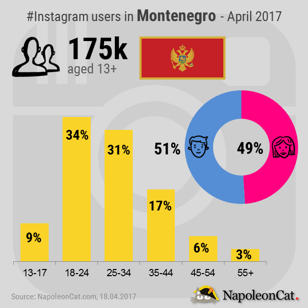 Instagram-user-demographics-in-Montenegro_Instagram-analytics-in-NapoleonCat