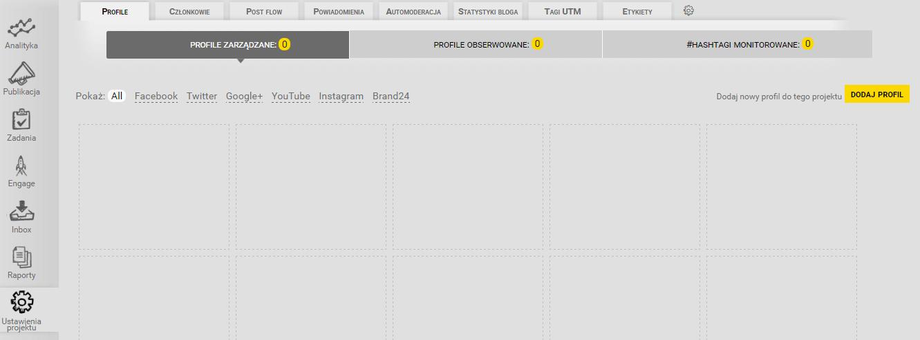 Integracja NapoleonCata z Brand24_dodawanie profilu