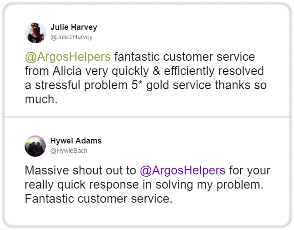 Customer service in social media - response quickly