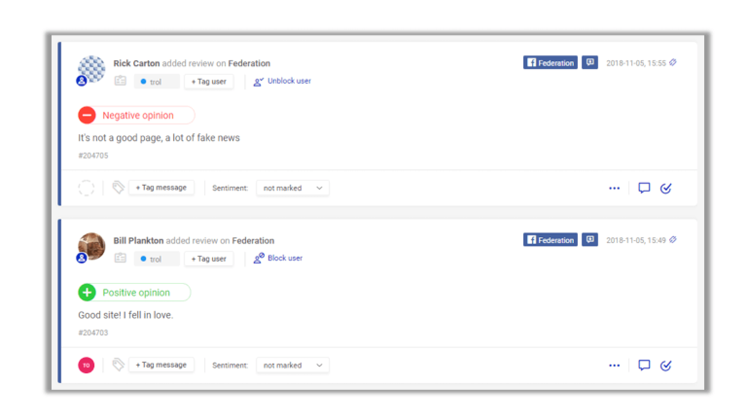 facebook recommendations management