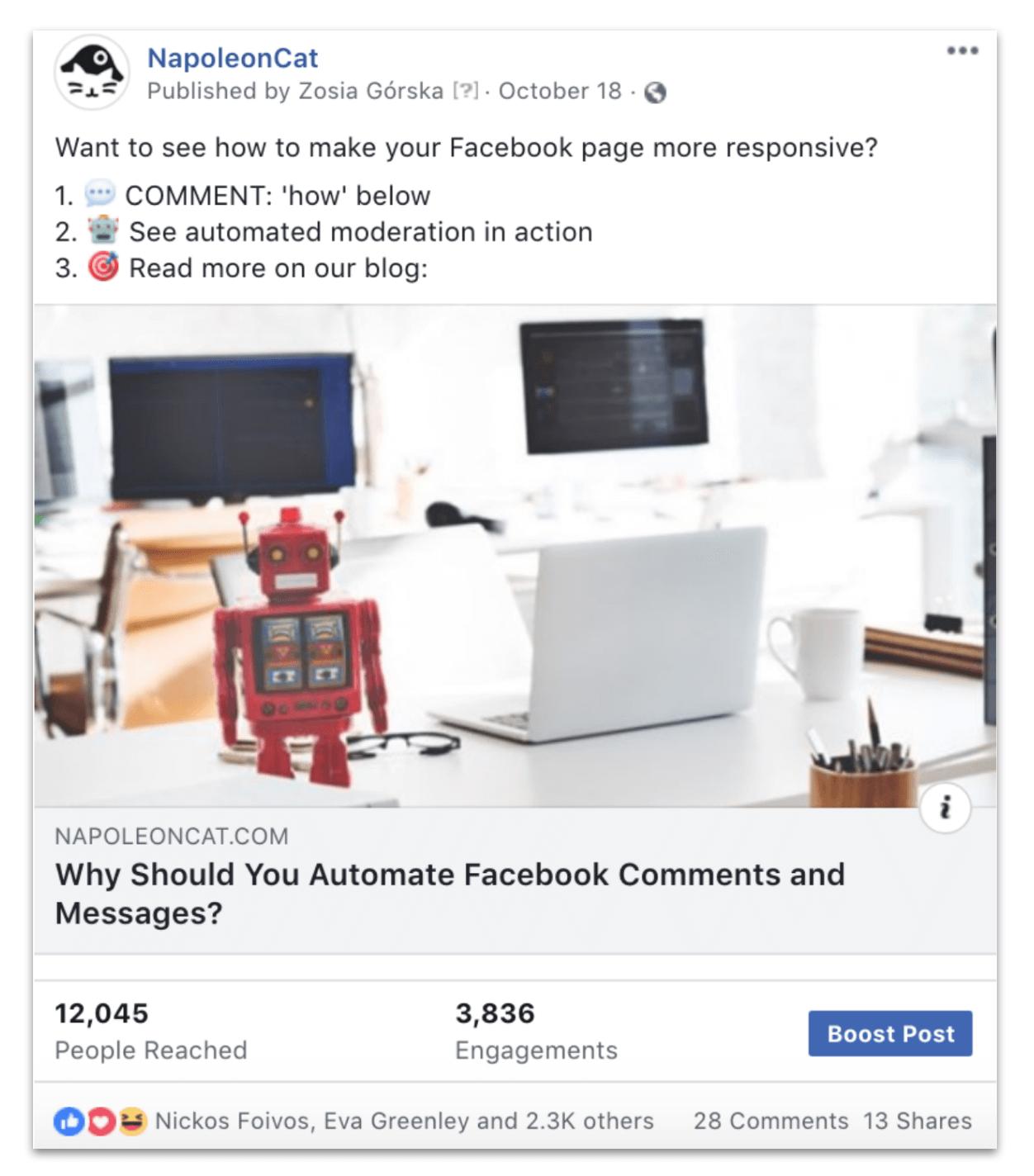 social media auto moderation