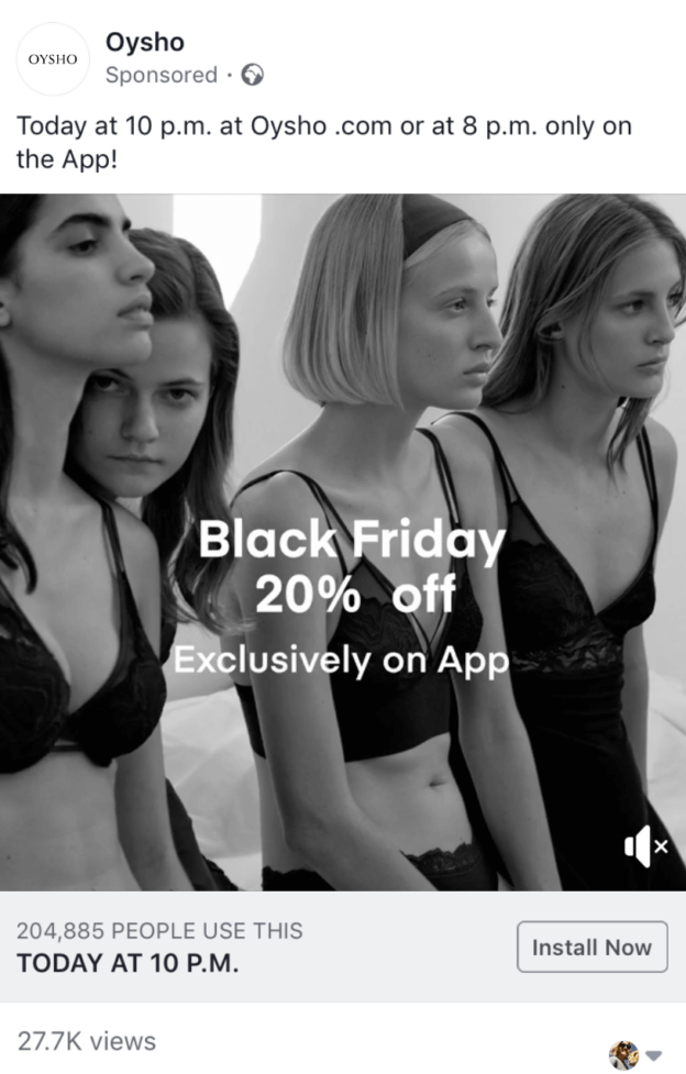 Facebook Black Friday Ad
