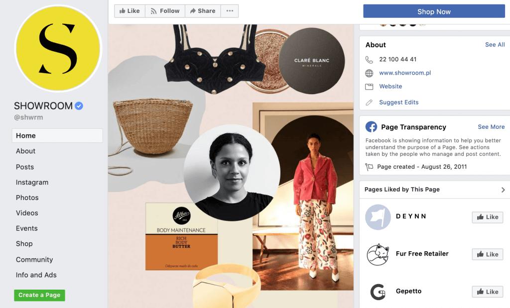 sprzedaż-w-social-media_Showroom
