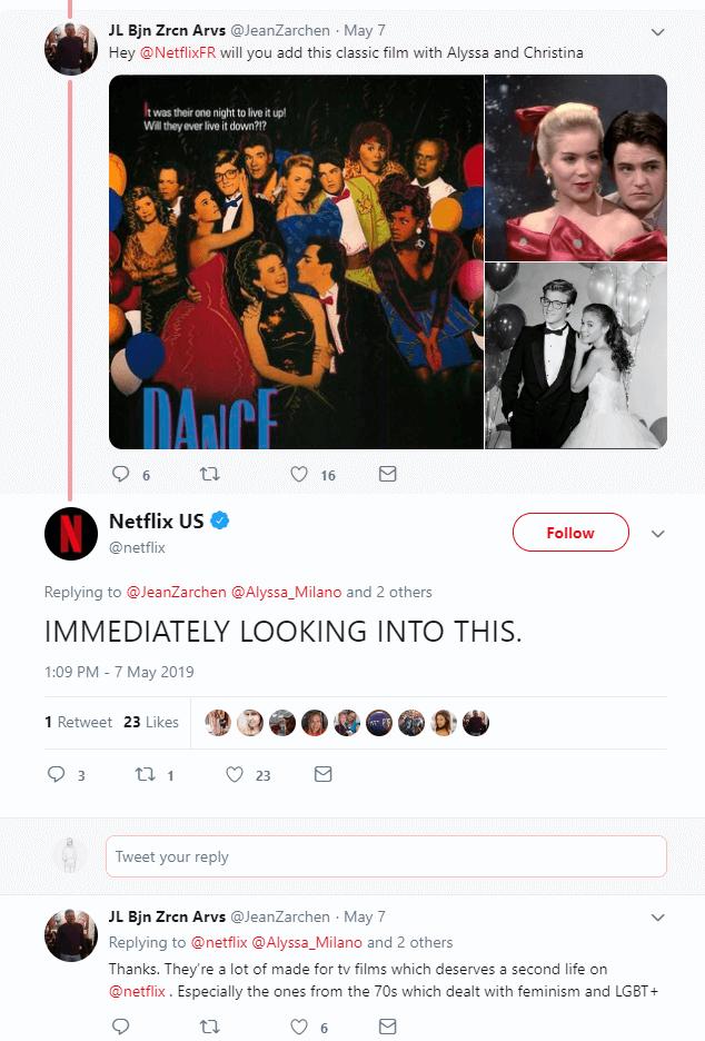 Netflix customer service on twitter