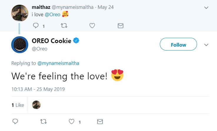 Oreo on Twitter