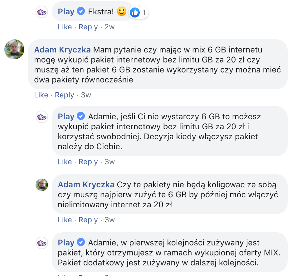 obsługa klienta na Facebooku_Play