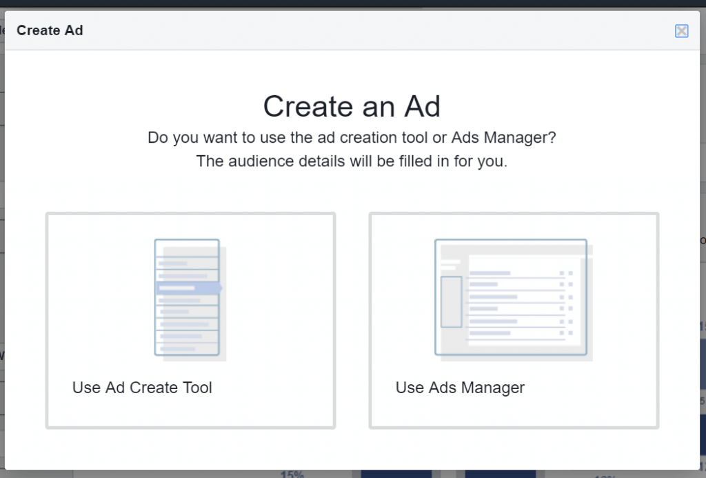 Facebook Create an Ad form Audience Insights