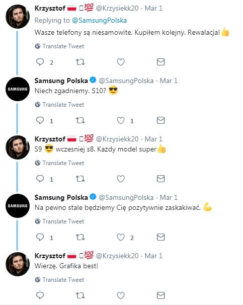 Obsługa klienta na Twitterze_Samsung