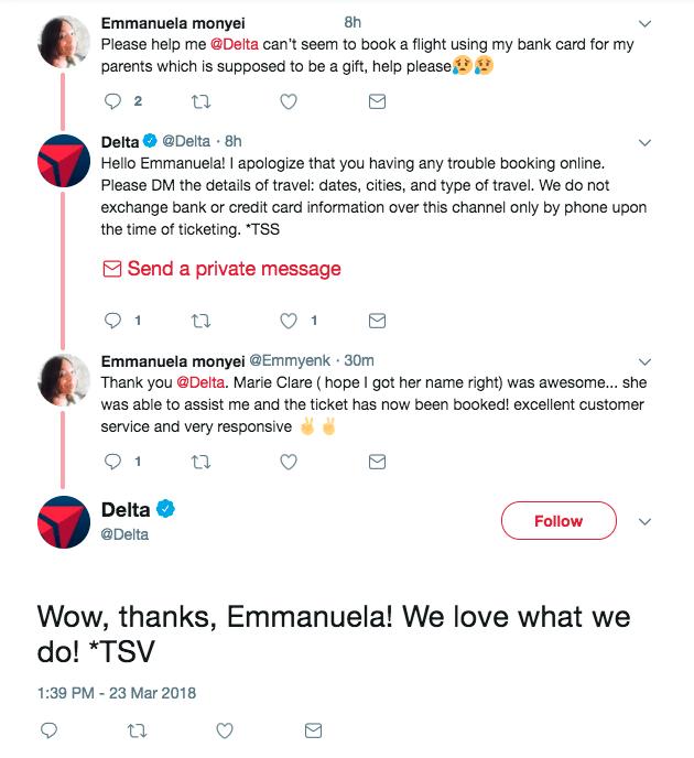social customer service on Twitter