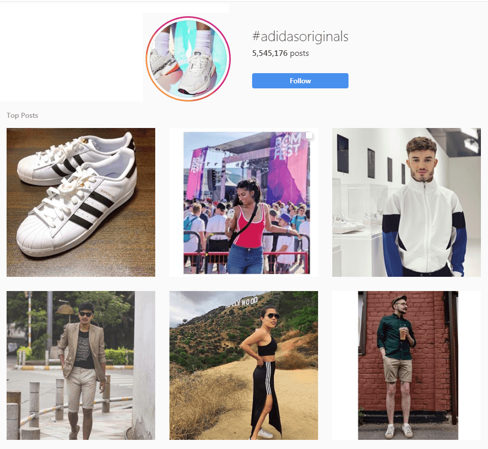 User generated content on Instagram