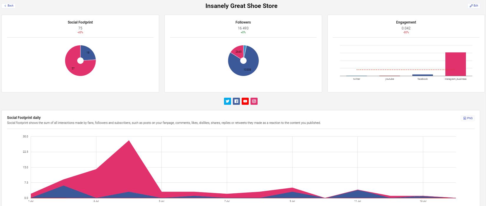 NapoleonCat social footprint