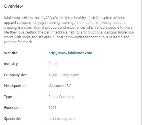LinkedIn overview
