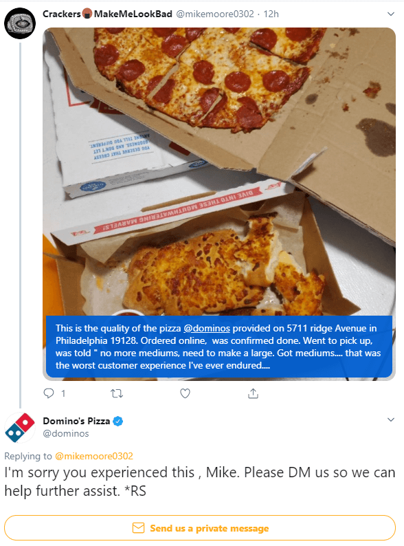 dominos twitter management