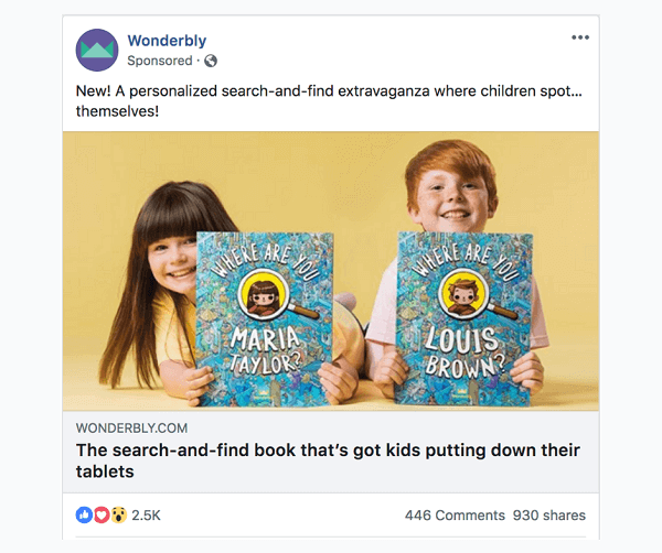 sponsored facebook content