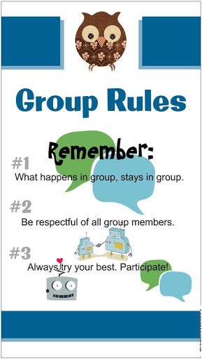 Facebook group rule reminder