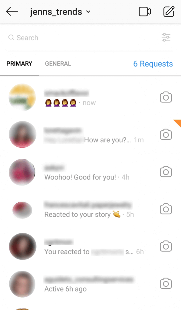 Instagram Creator Account 2-tab inbox