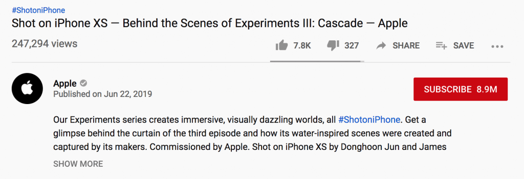 YouTube video title and description example