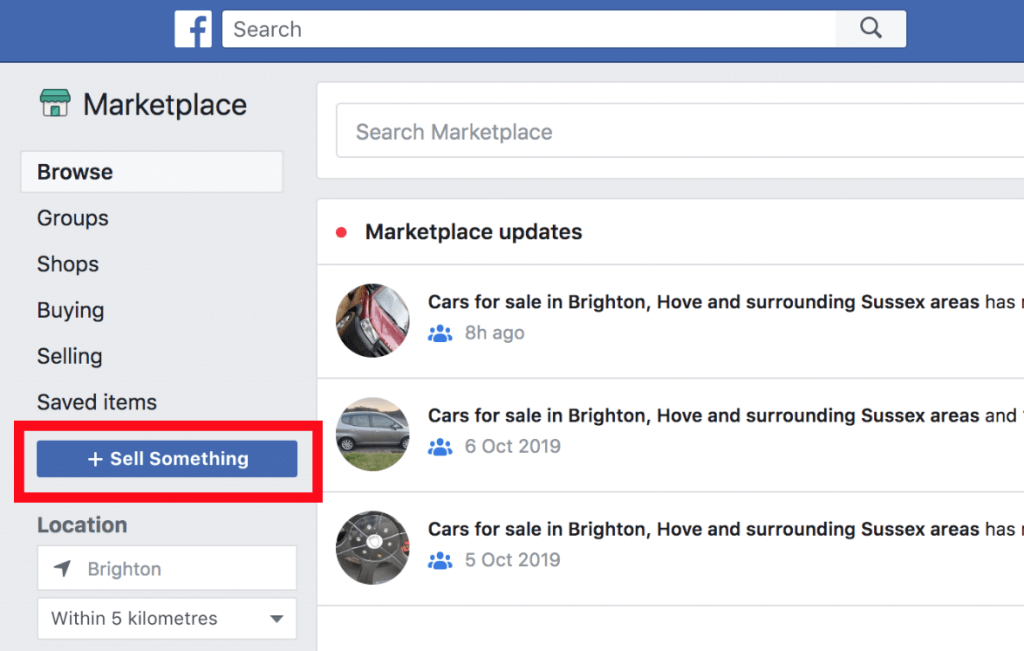 Create Facebook Marketplace listing