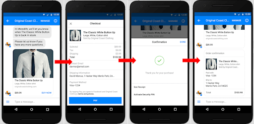 guided purchase Facebook Messenger