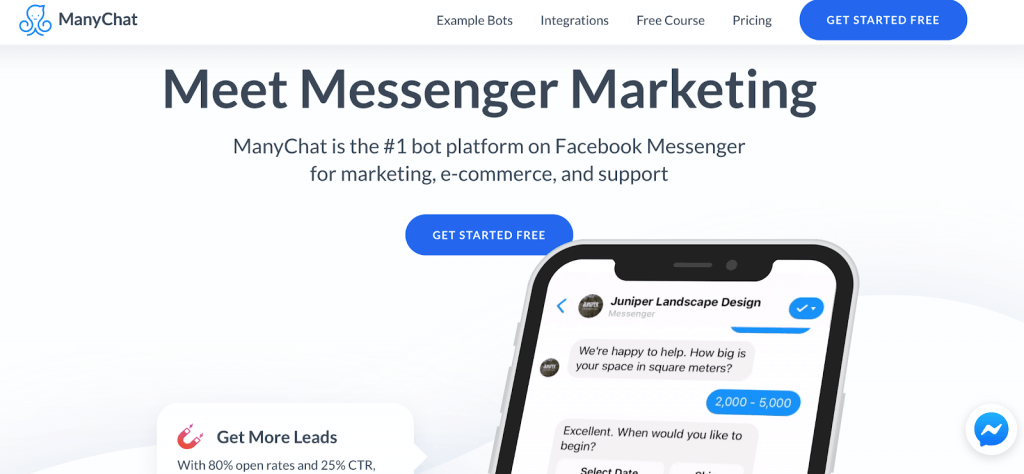 Manychat Facebook Messenger