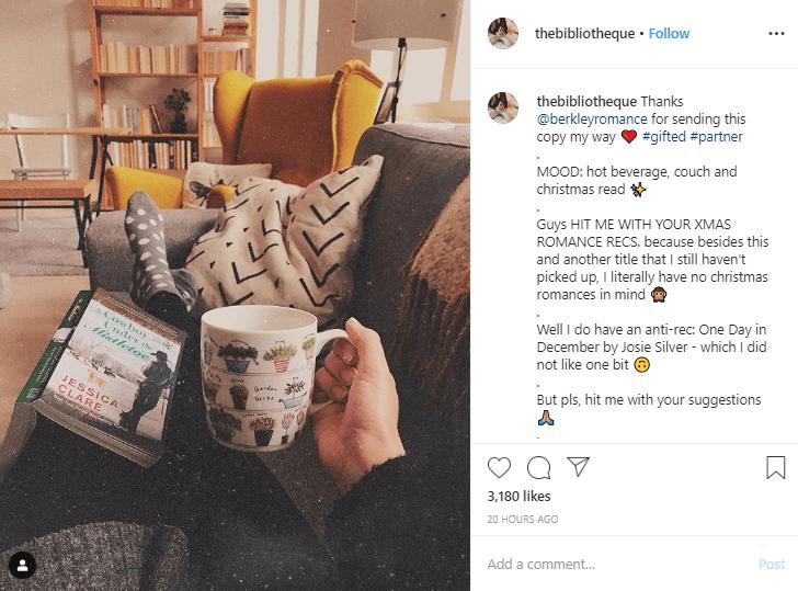 Instagram influencer sponsored post