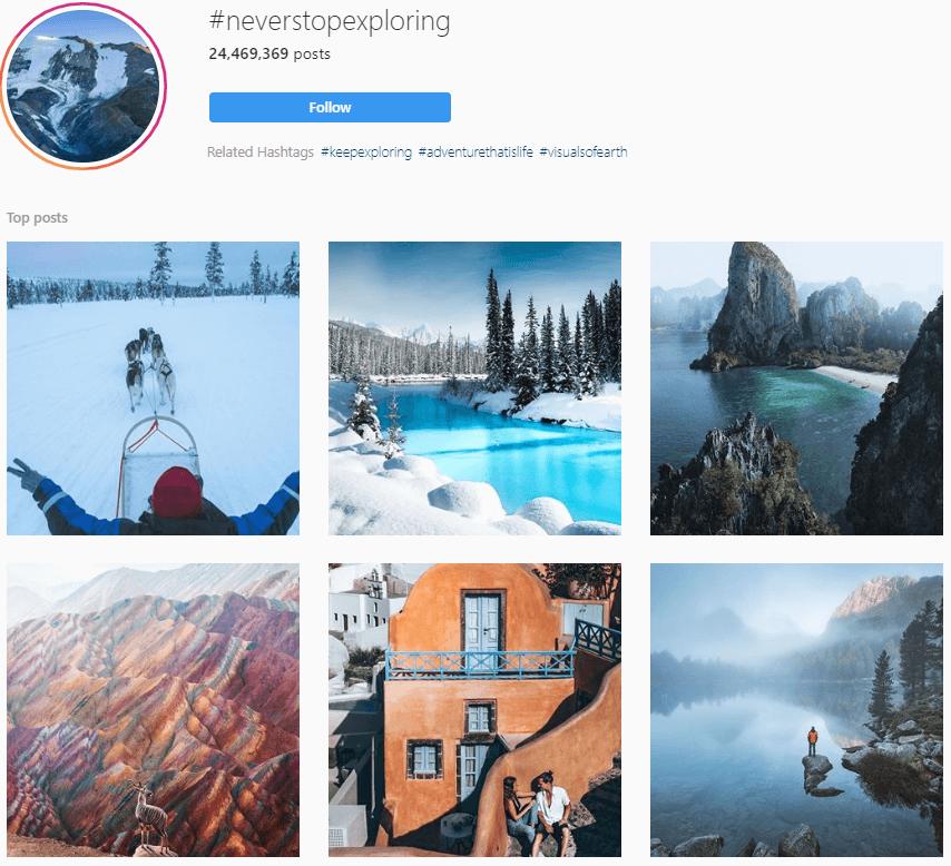 Instagram aesthetics