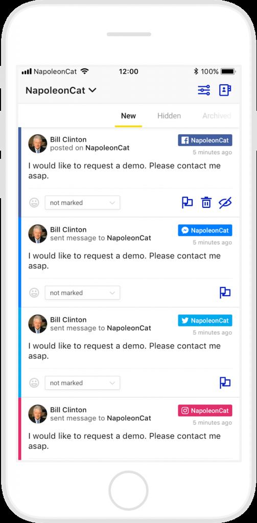 NapoleonCat's Social Inbox