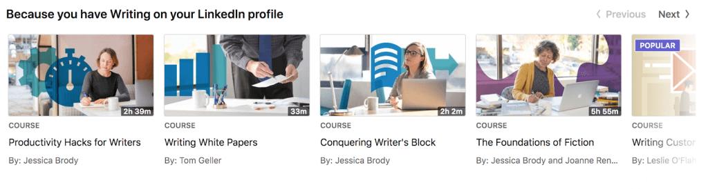 LinkedIn courses